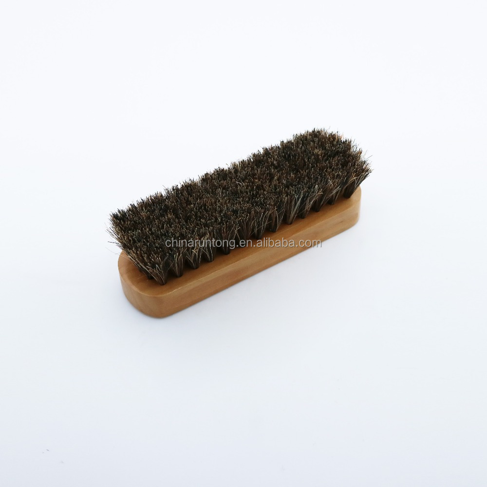 Wood handle pig hair shoe care best shoe polish brush
