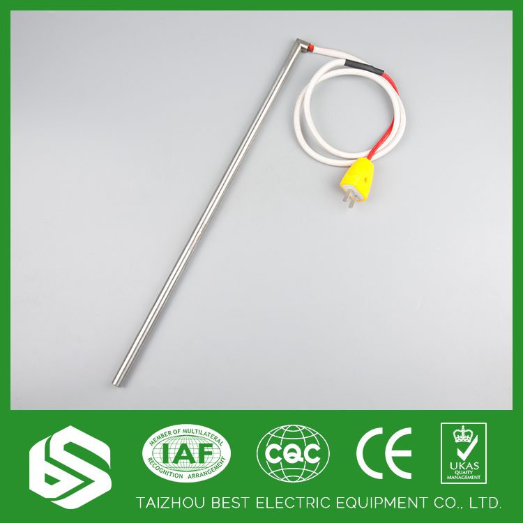 Fast heat screw plug immersion cartridge heaters for food