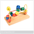 Educational toys wooden bead maze for children,circle bead maze wooden toys