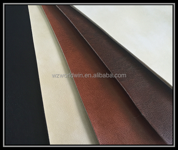embossed artificial semi pu leather for furniture