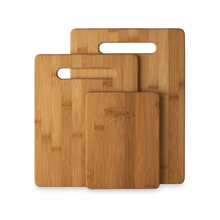 Simply Bamboo Classic Flat-Stripe Cutting Board in Combo Pack Set of 3