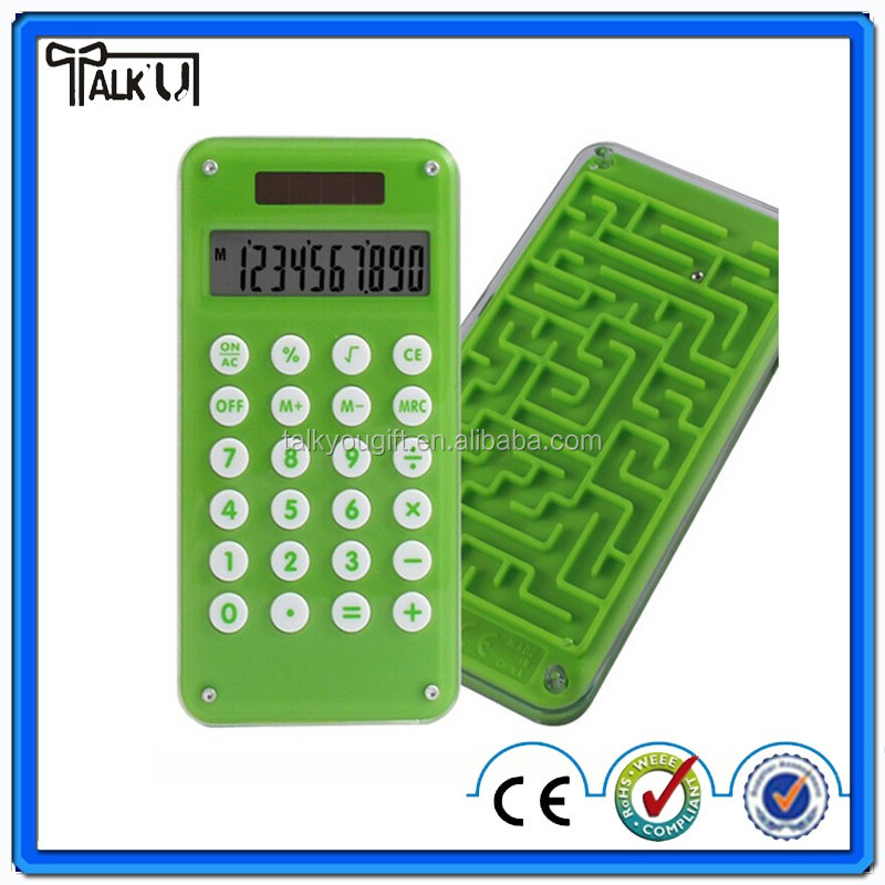 Mini 8 digit maze game calculator, mini calculator of iphone size