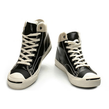 PU vulcanized lace up style high cut casual shoes for lady