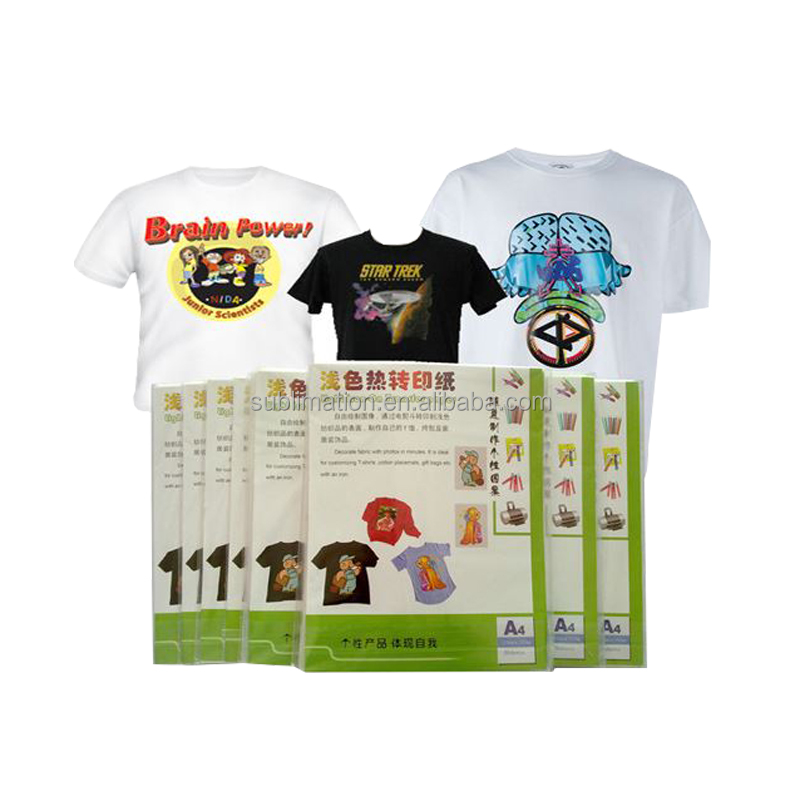 Inkjet sublimation transfer paper for dark fabric
