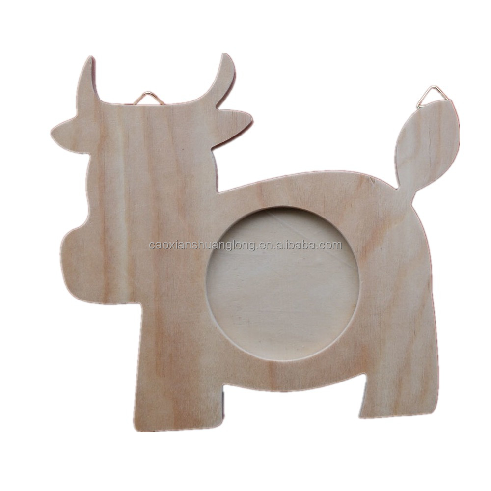 Promotional Logo Printed cow shaped wooden photo frame