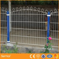 cheap painting galvanized flexible Welded metal garden fence