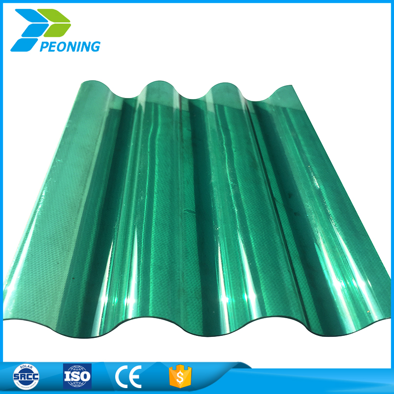 Hot sale factory directly large pc transparent corrugated plastic roofing sheets