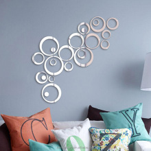 Creative 3D acrylic PMMA DIY circle mirror decorative wall stickers