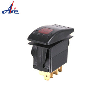 M03 ON-OFF DPST 5 terminal LIGHT reset off rocker switch