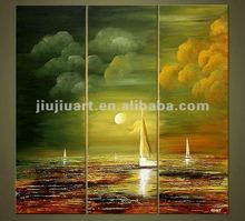 handmade boat oil painting abstract paintings