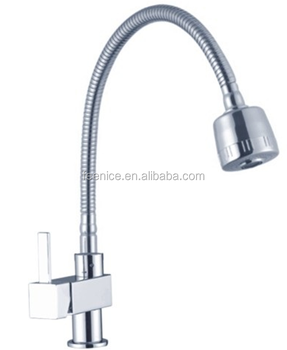 Home kitchen Brass polished Flexible spray faucet kitchen faucet