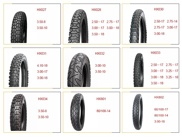 HX819 90/90-17 ,90/90-18 ,100/70-17 ,110/90-16 standard best quality hot sale rubber motorcycle tire