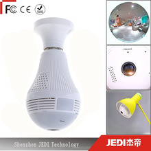 360 degree led light wireless smart 3D vr camera panoramic wifi bulb camera for home security_HL4079