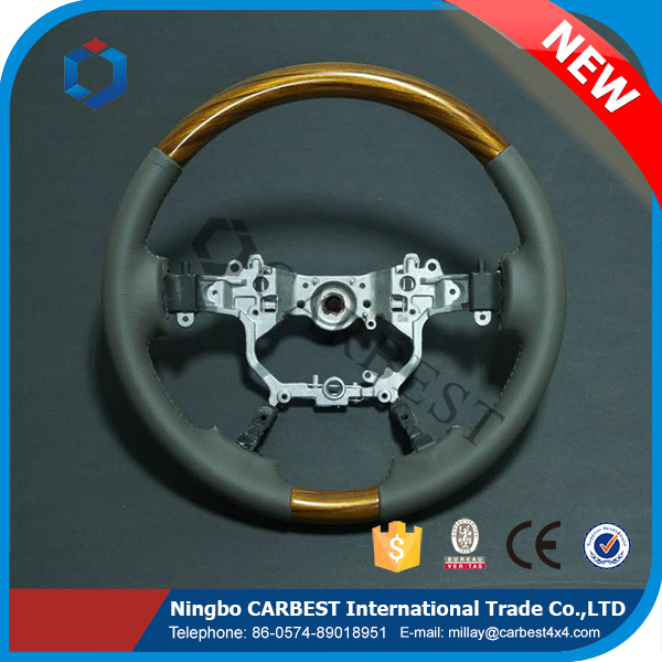 High Quality Leather Land Cruiser Steering Wheel For Toyota FJ200 2013-2017