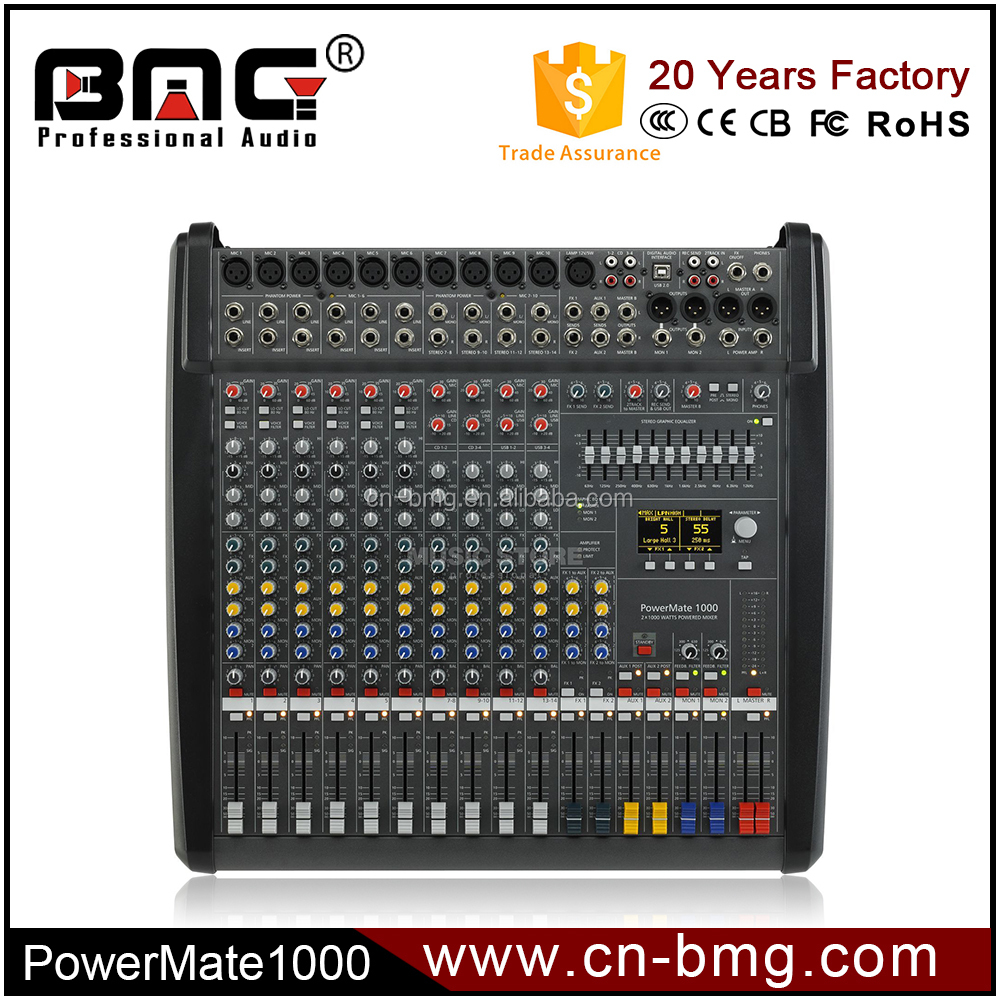 Factory Made High Sound Quality Powermate 1000 Mixer similar as Dynacord Power Mixer