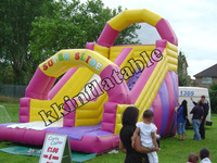New Pink inflatable arch slide for girls