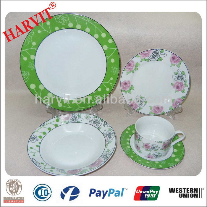 White Vintage Style Beautiful Porcelain Tableware Dinnerware Dinner Set With Rose Design/Products You Can Import From China