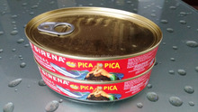 215g Oval Canned sardine In Tomato Sauce or In Hot Tomato Sauce