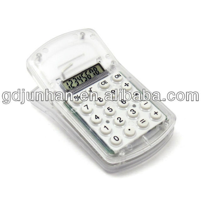 promotion 8 digit mini pocket size calculator with clip