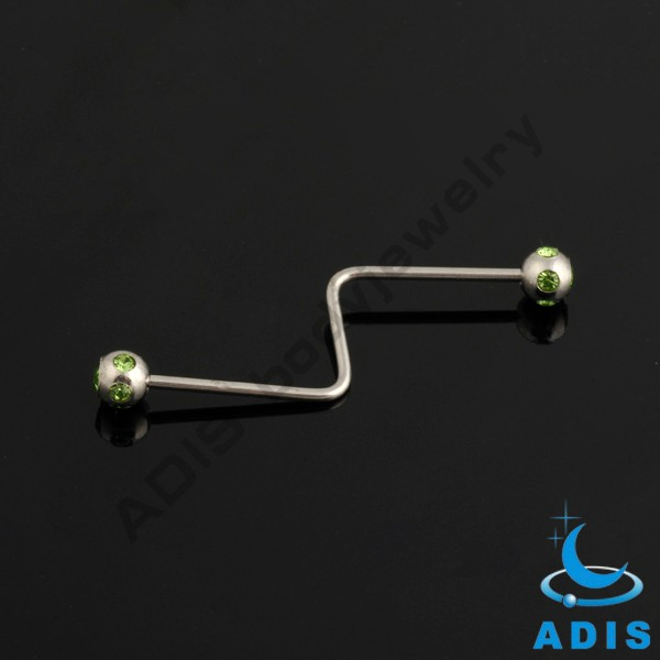 Free Sample Body Piercing Jewelry 14G Gold Industrial Barbell Piercing Jewelry