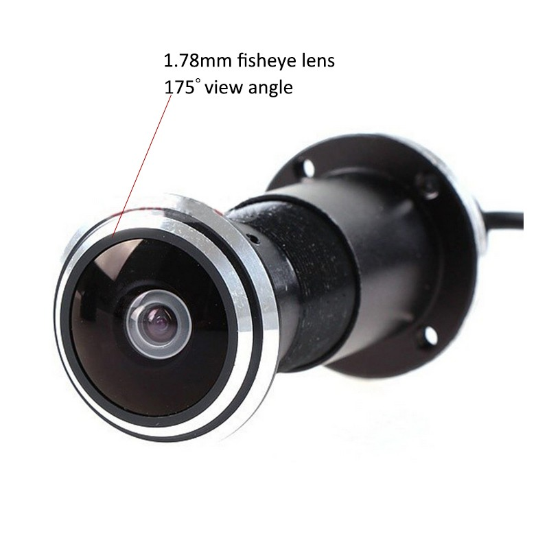 SONY IMX322 AHD Door 1.78mm Fisheye Lens CCTV 1080P AHD Camera
