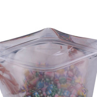 clear front solid backed mylar ziplock foil plastic bag for marijuana packaging