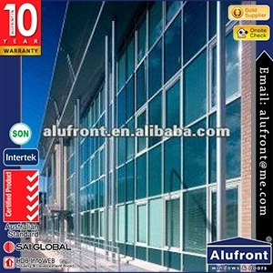 Visible System Aluminum Glass Curtain Wall For High-rise