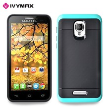 Brushed Armor Phone Case For Alcatel Fierce 4 Wholesale 2D Sublimation TPU+PC Mobile Phone Cases