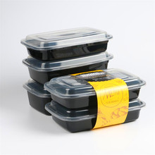 Microwave Takeaway PP 300ML 450ML 600ML 750ML 1000ML 1250ML PP Disposable Plastic Lunch Container