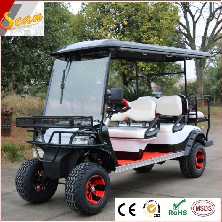 2018 new model 6 seater cheap hunting car electric for golf with wiper on sale