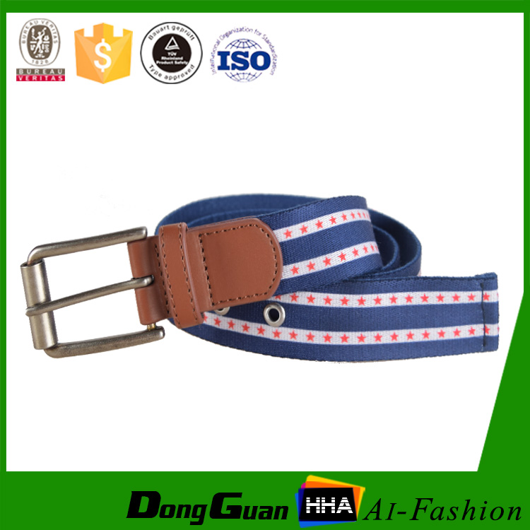 Competetive Price Custom Logo Canvas Fabric Belt Manufacturer With Pin Buckle
