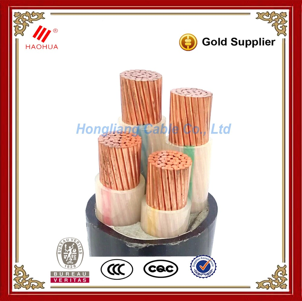NO.0122- 0.6/1kV Copper Low voltage underground 4 core power cable 240 sq mm 4x240 CU/XLPE/PVC cable