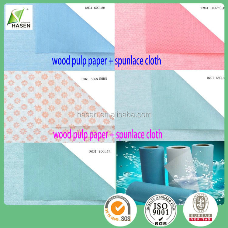 50% Viscose Tear Resistant Nonwoven Clean Spunlace Wipe For Household