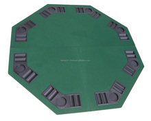 "Poker Table Top 48"" Green Octagon 8 Player Four Fold Folding and Carrying Case"