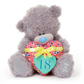 custom lovely plush stuffed bear toy With a colorful loving ballon heart