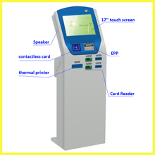 information touch screen kiosk thermal printer card reader OEM/ODM manufacturer