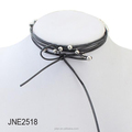 Leather Long Gothic Choker Necklace Set With beads Tattoo 63inch