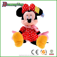 Popular lovely minnie mouse plush stuffed mouse toys
