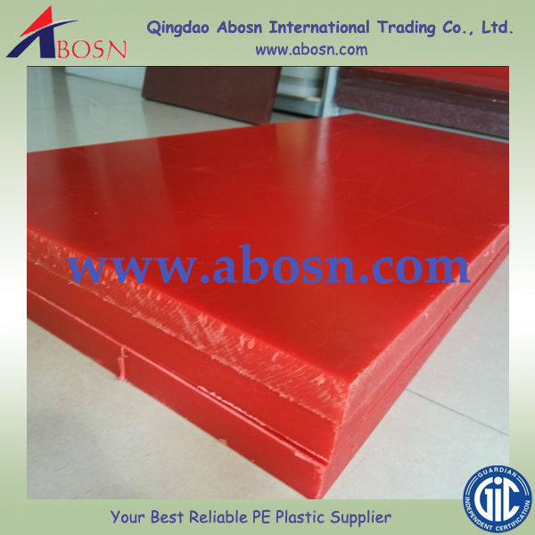 Higher UV resistant green UHMWPE boards/ red HDPE sheet