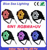 Dmx rgbaw uv 18x18w par led light for disco bar night club wedding etc