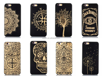 Black engraving bamboo phone case for iPhone 6