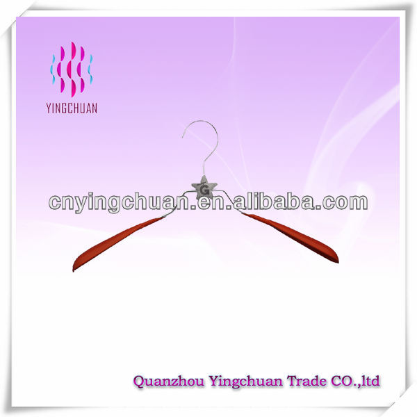 Decorative rubber coated coat hanger