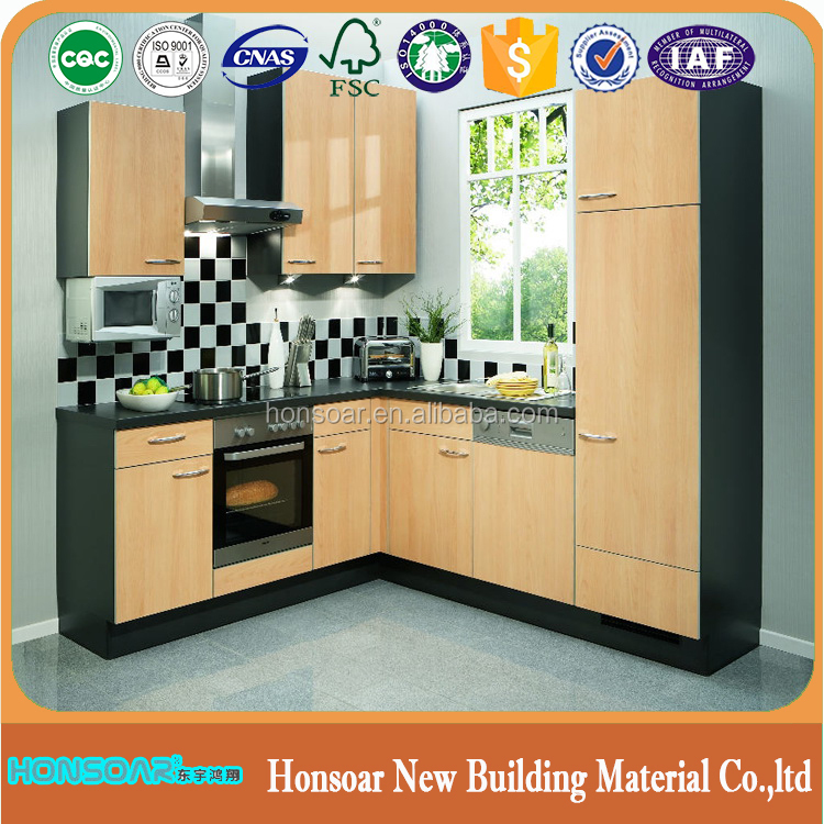 China Honsoar Customized Interior Solid Wood Kitchen Cabinet Doors