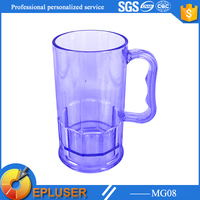 Promotional beer mug / Clear plastic mugs with handle / Plastic beer cup