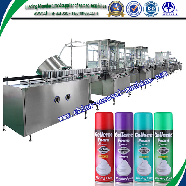 Automatic aerosol spray paint filling machine / Gold finish spray aerosol filling machine / Aerosol fillling line