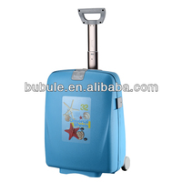 Colorful trolley luggage plastic travel case leisure luggage parts jumbo bag