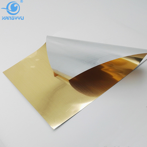 Brushed Gold Self Adhesive Metallized PET Decorative Wall Film