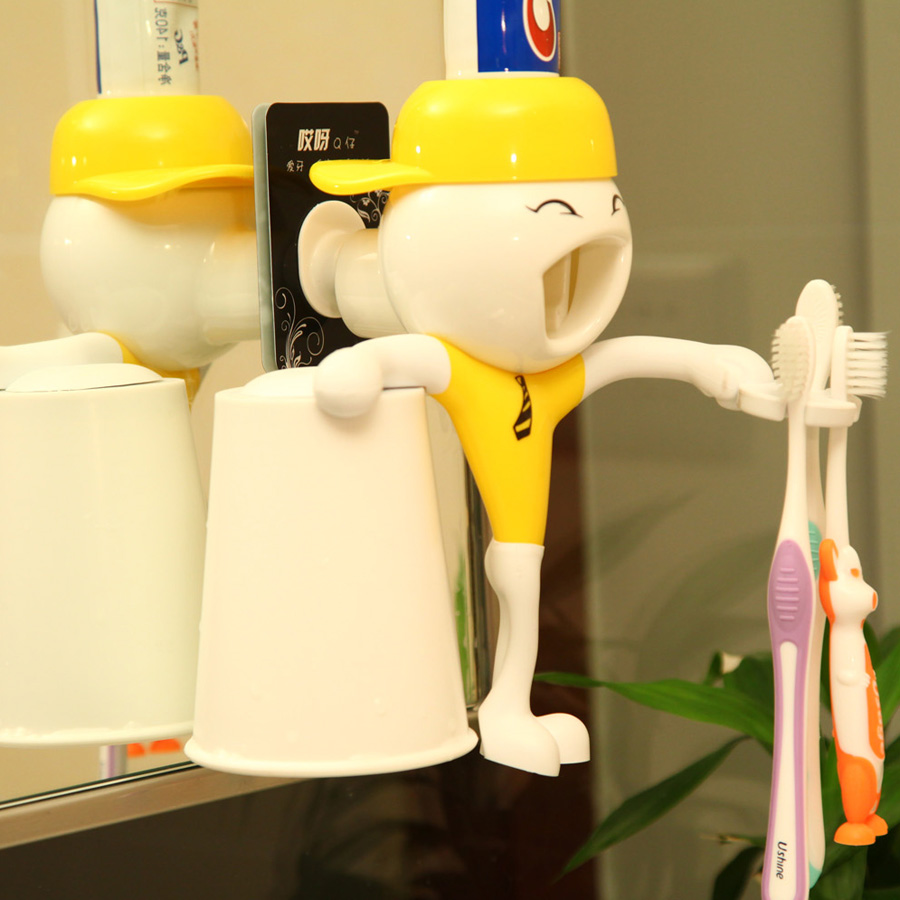 New commercial ideas for school/ Innovative auto toothpaste dispenser