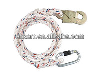 Safety Rope With Middle Snap Hook
