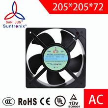 Suntronix cooling fan industrial ac axial fan205*205*72mm exhaust fan motor 110V. For DIY ventilation fans